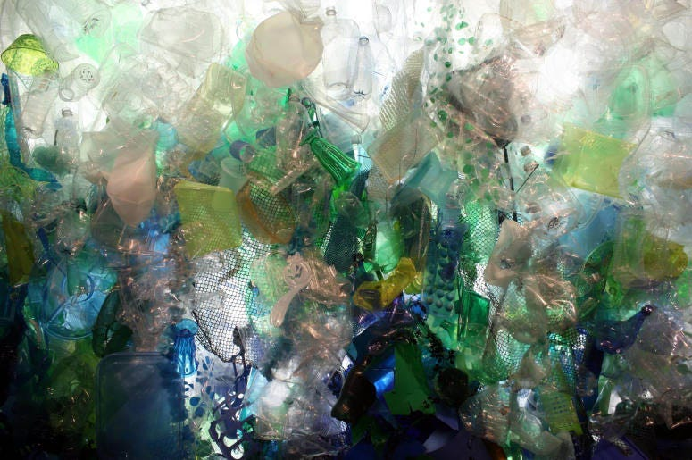 Plastic debris