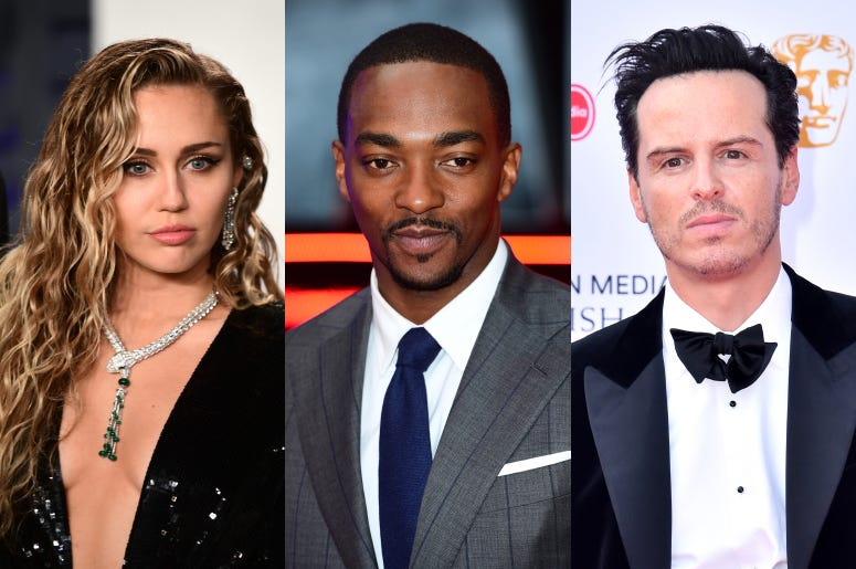 Miley Cyrus, Anthony Mackie and Andrew Scott