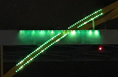 hoan bridge demonstration lighting