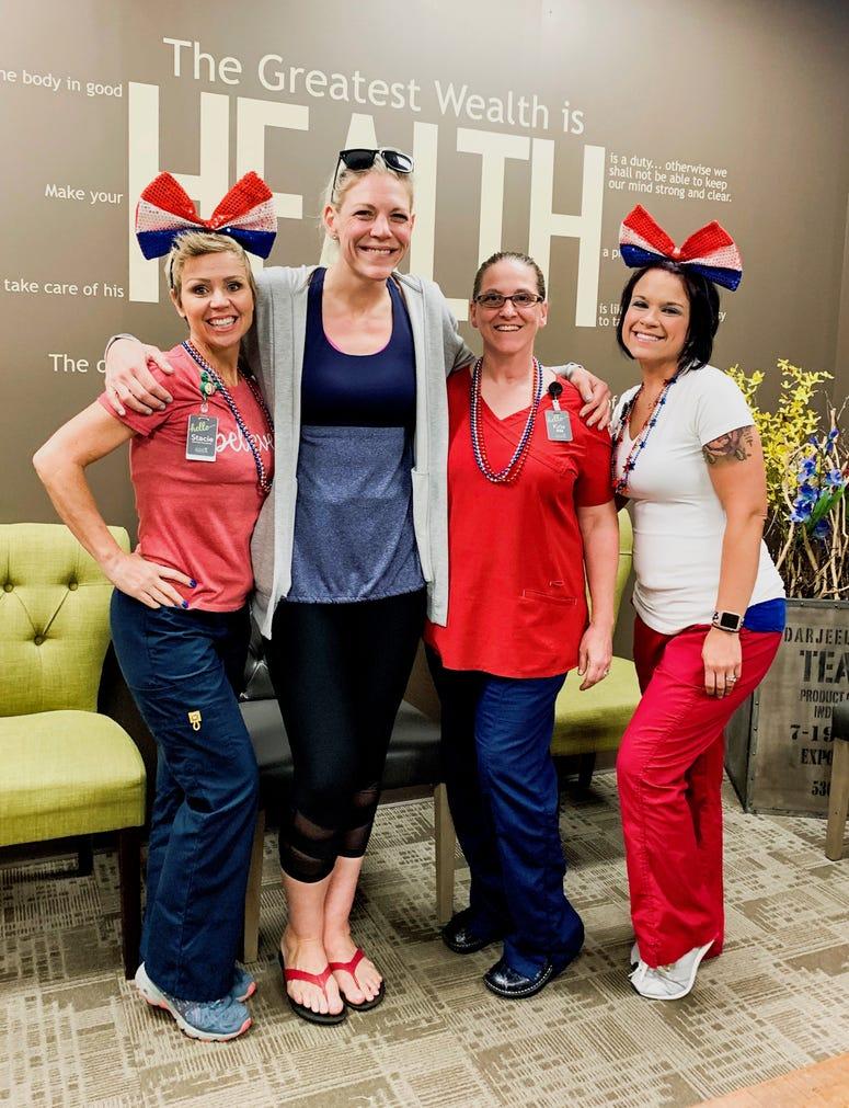 Stacy, Me, My Nurse Kris, Sara Celebrating That I Hit Maintenance!