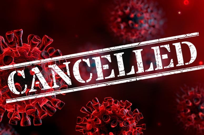 Keep Up With Coronavirus Cancellations