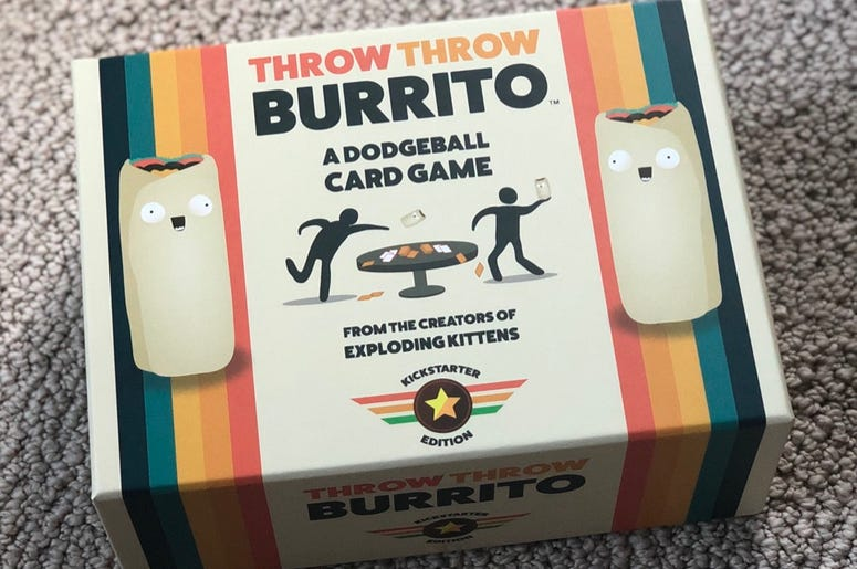 Throw Throw Burrito Kickstarter Exploding Kittens Board Games Fun