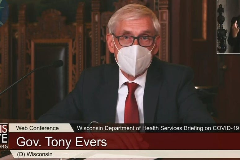 Governor Tony Evers Mask Pic