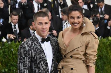 Nick Jonas (L) and Priyanka Chopra attend the 'Rei Kawakubo/Comme des Garcons: Art Of The In-Between' Costume Institute Gala
