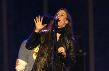Alanis Morissette performs after the Medals Ceremony during the 2002 Salt Lake Winter Olympics