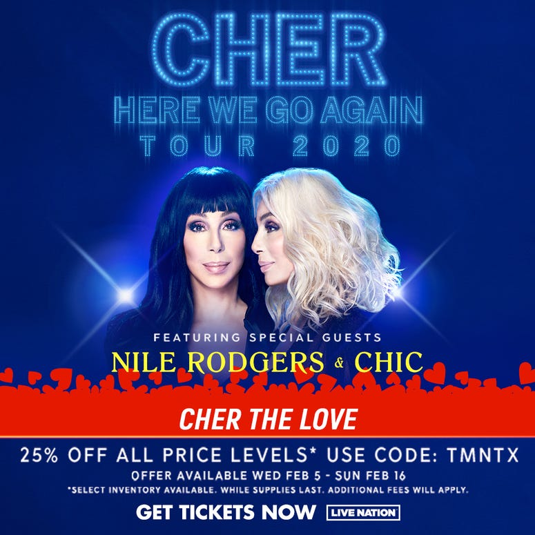 Valentine's Special for Cher tickets in Memphis