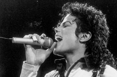 Performer Michael Jackson is shown in concert Oct. 24, 1988, in Auburn Hills, Mich.