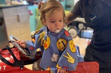 baby Olson haircut