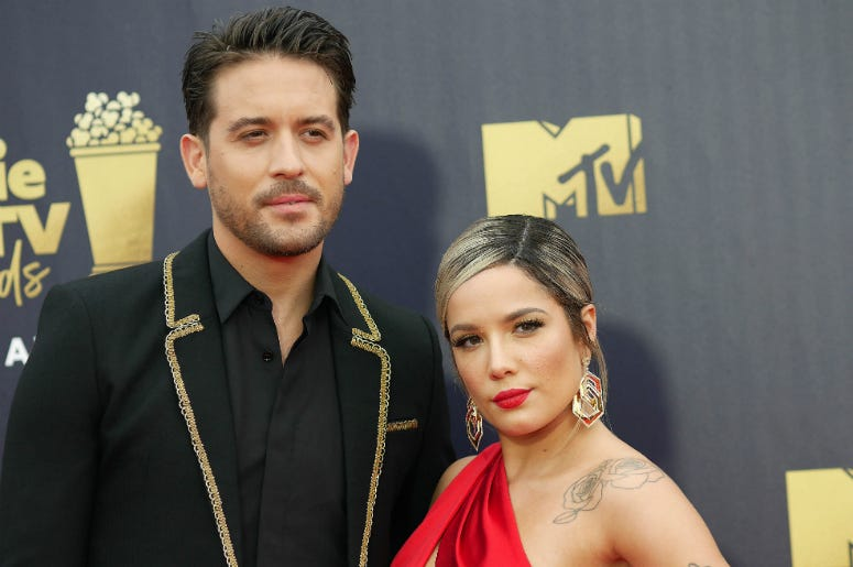 G-Eazy and Halsey attending the 2018 MTV Movie and TV Awards held at the Barker Hangar in Los Angeles, USA.