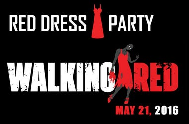 """""""Walking Red"""" Red Dress Party 2016"""