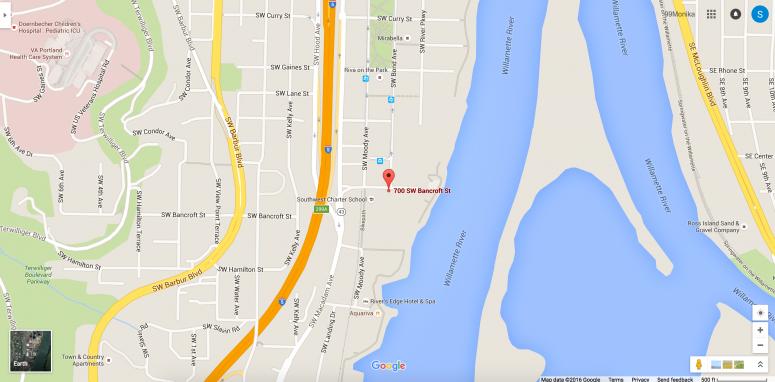 Google map Entercom Portland