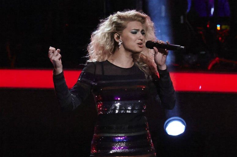 Musician Tori Kelly performs onstage during 'Stayin' Alive: A GRAMMY Salute To The Music Of The Bee Gees' at the Microsoft Theater on February 14, 2017 in Los Angeles, California.