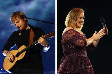 Ed Sheeran and Adele