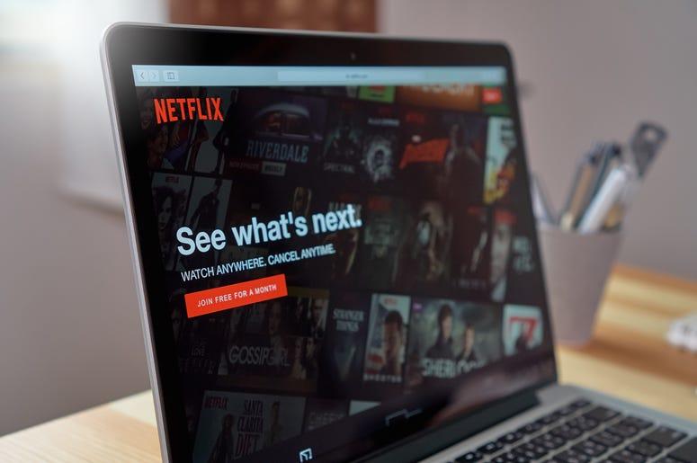 Netflix app on Laptop screen