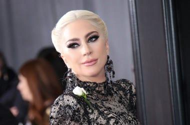 Jan 28, 2018; New York, NY, USA; Lady Gaga arrives at the 60th Annual Grammy Awards at Madison Square Garden.