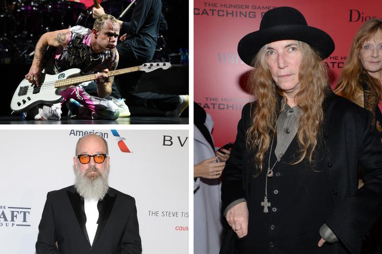 Patti Smith, Flea, Michael Stipe