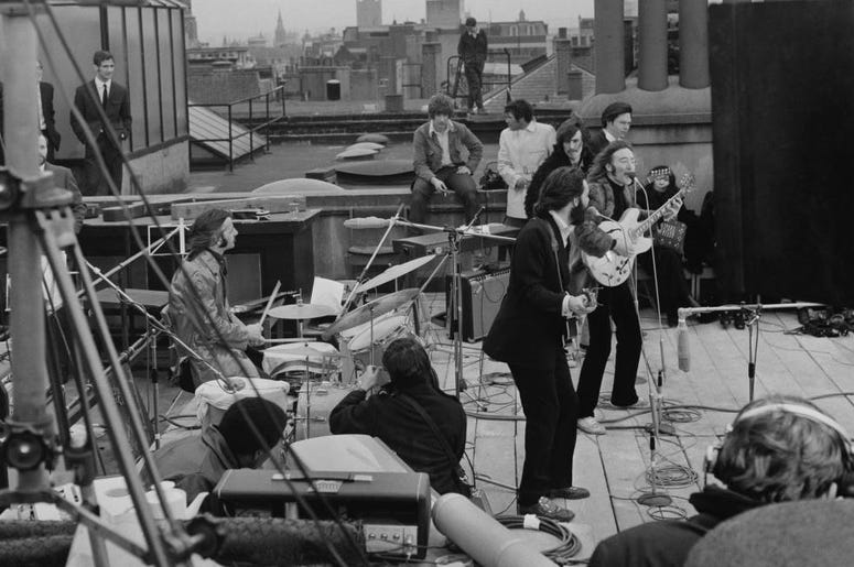 Beatles On Abbey Road Roof