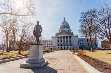 Hans Christian Heg statue in Madison