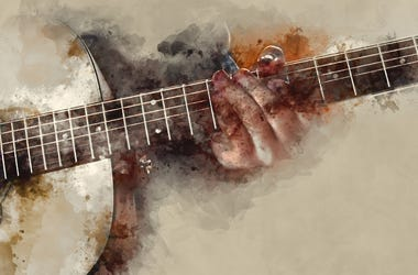 guitar watercolor