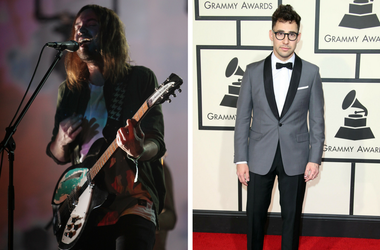 Kevin Parker with Tame Impala performs during the 2016 Bonnaroo Music and Arts Festival; Jack Antonoff arrives on the red carpet during the 58th Grammy Awards