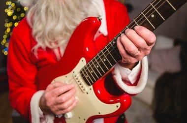 santa with guitar