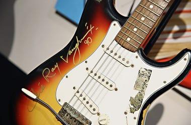 SRB autographed guitar