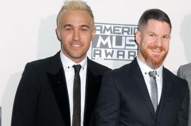 Pete Wentz and Andy Hurley of Fall Out Boy