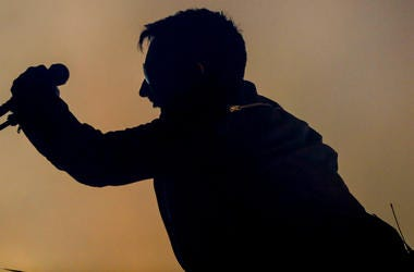 Trent Reznor of Nine Inch Nails performs onstage on day 3 of FYF Fest 2017