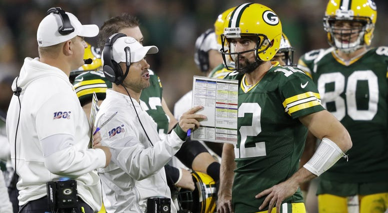 Matt Lafleur and Aaron Rodgers, Green Bay Packers
