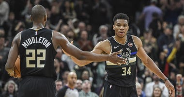 Giannis Antetokounmpo, Khris Middleton, Milwaukee Bucks
