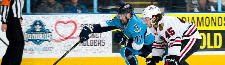 Admirals battle back for 5-2 win over Ice Hogs