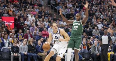 Bogdanovic' game winner lifts Jazz over Bucks