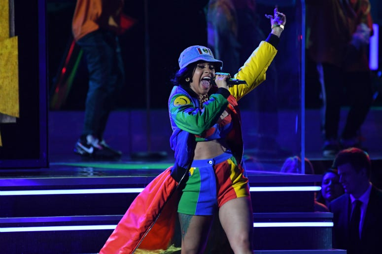 Cardi B Performs at the 2018 GRAMMY Awards in New York City
