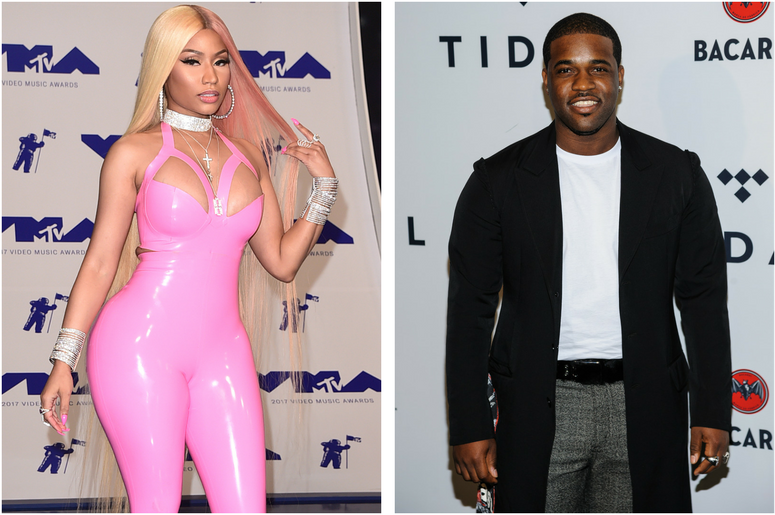 Nicki Minaj. 2017 MTV Video Music Awards held at The Forum in Los Angeles. / A$AP Ferg. TIDAL X: Brooklyn at Barclays Center.