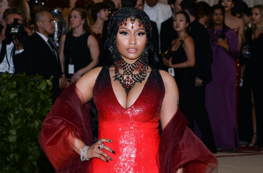 Nicki Minaj walking the red carpet at The Metropolitan Museum of Art