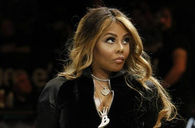 "Lil Kim during the ceremony honoring The Notorious B.I.G. at ""Biggie Night"" at Barclays Center."