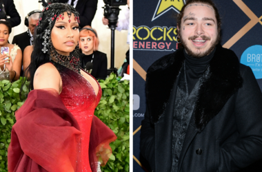 5/24/2018 - File photo dated 07/05/18 of Nicki Minaj / Post Malone walking on the red carpet at the The 2018 MAXIM Party held at Schaffer-Richardson Building on February 3, 2018 in Minneapolis, Minnesota.