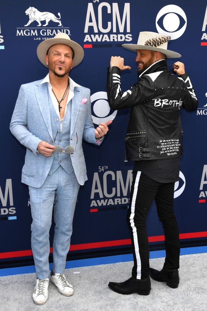 LOCASH attends the 54th Academy Of Country Music Awards at MGM Grand Hotel & Casino on April 07, 2019 in Las Vegas, Nevada