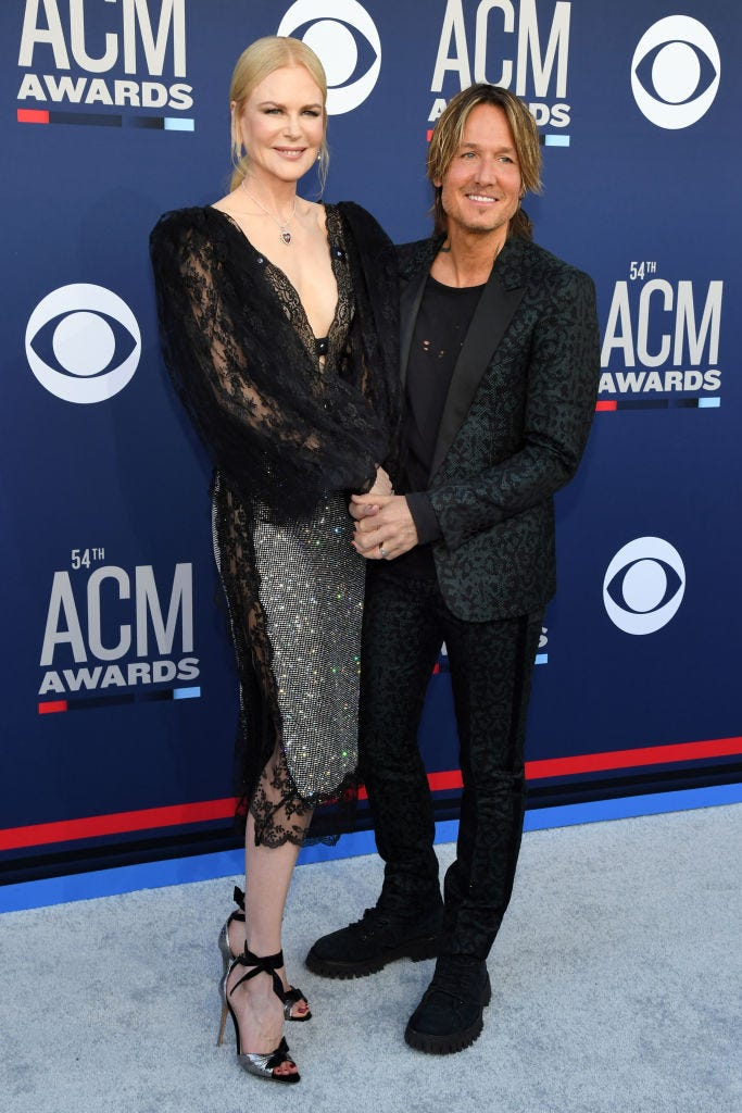 Keith Urban attends the 54th Academy Of Country Music Awards at MGM Grand Hotel & Casino on April 07, 2019 in Las Vegas, Nevada