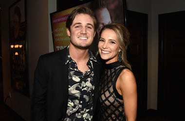 Singer Seth Ennis (L) attends the 55th annual ASCAP Country Music awards at the Ryman Auditorium