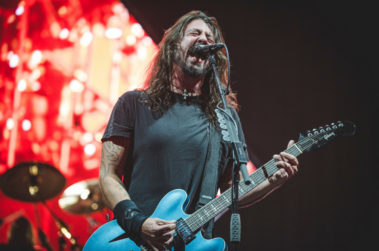Dave Grohl on stage