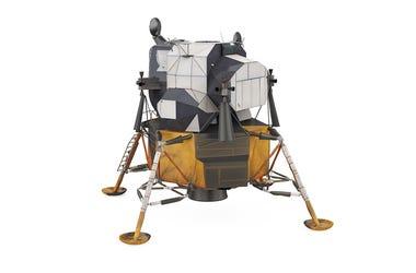 Apollo moon lander 3D rendering
