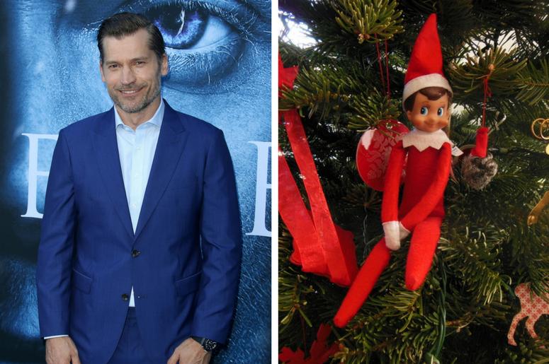 Elf on the Shelf and Nikolaj Coster-Waldau