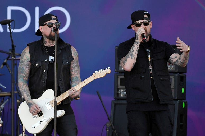 Guitarist Benji Madden (L) and singer Joel Madden of Good Charlotte