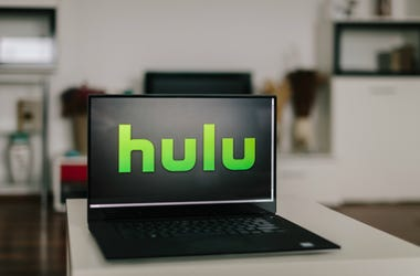 Hulu logo on modern laptop screen. Hulu is an American online company and partially ad-support