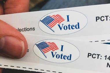 I Voted ballot tear offs