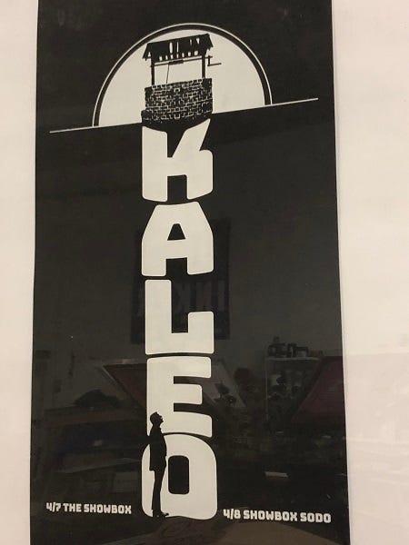 Kaleo poster The Showbox