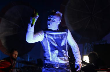 Keith Flint of the Prodigy performs onstage in 2015