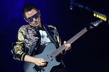 Matt Bellamy of Muse performs during KROQ's Almost Acoustic Christmas Show in Los Angeles, CA