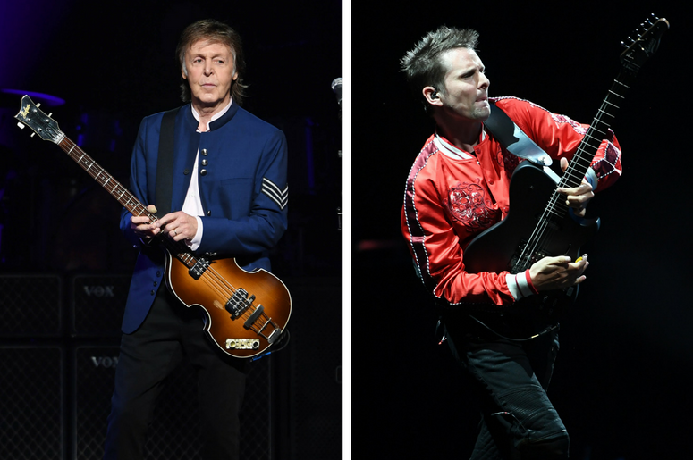 Paul McCartney and Muse frontman Matt Bellamy